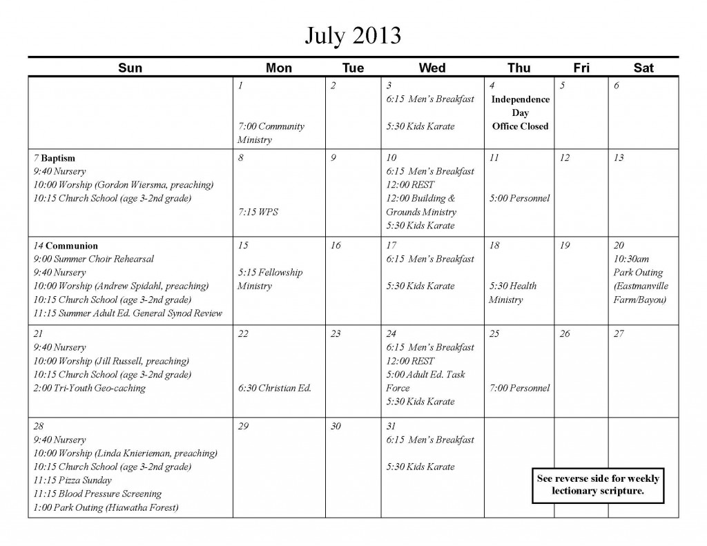July Calendar and Lectionary_Page_1